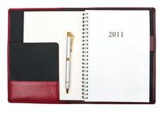 Agenda 2011 Royalty-vrije Stock Fotografie