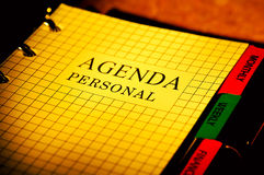 Agenda. Photo of a Day Planner Royalty Free Stock Images