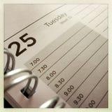 Agenda Stock Foto's