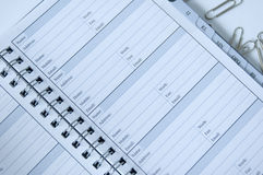 Agenda Imágenes de archivo libres de regalías