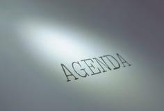 Agenda Stock Foto