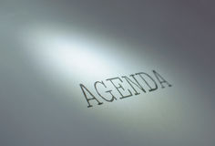 Agenda foto de stock