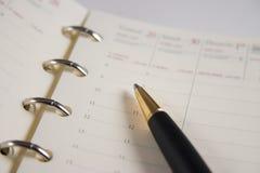 Agenda Royalty-vrije Stock Foto's