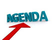 Agenda Foto de archivo