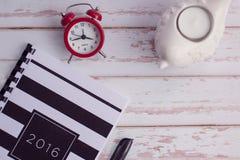 2016 agenda Fotografia Stock