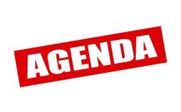 Agenda Imagen de archivo libre de regalías