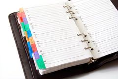 Agenda. With pages for telephone numbers list stock photo