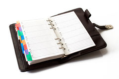 Agenda. With pages for telephone numbers list royalty free stock photography