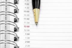 Agenda aberta Foto de Stock