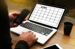 Agenda Activity Information Calendar Events and Meeting Appointm. Ent Stock Photography