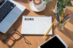 Agenda Activity Information Calendar Events and Meeting Appointm. Ent Royalty Free Stock Photo