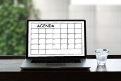 Agenda Activity Information Calendar Events and Meeting Appointm Royalty Free Stock Photos