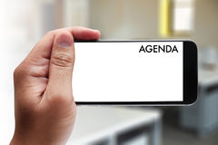 Agenda Activity Information Calendar Events and Meeting Appointm Stock Image