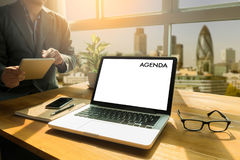 Agenda Activity Information Calendar Events and Meeting Appointm. Ent Royalty Free Stock Photography