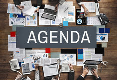 Agenda Analysis Information Documents Concept Stock Images