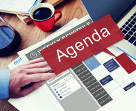 Agenda Apppointment Goals Information List Plan Concept Royalty Free Stock Photography