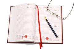 agenda biznes Obrazy Royalty Free