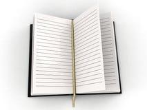 agenda blanc ouvert illustration stock