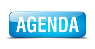 Agenda blue square isolated web button. Agenda blue square 3d realistic isolated web button Royalty Free Stock Photos