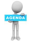 Agenda. Business meeting agenda concept, agenda banner in blue over white background vector illustration