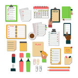 Agenda business notes vector. Vector notebook agenda business note. Meeting notebook plan work reminder agenda business note. Schedule calendar planner organizer Royalty Free Stock Image