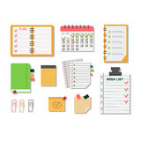 Agenda business notes vector Royalty Free Stock Image