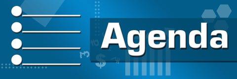 Agenda Business Theme Horizontal Stock Images