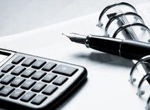 Agenda, calculation Stock Photography