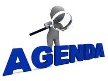 Agenda Character Means Schedule Program. Agenda Character Meaning Schedule Program Or Outline Royalty Free Stock Photo