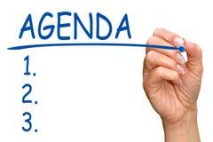 Agenda checklist Royalty Free Stock Photos