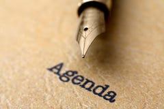 Agenda Stock Image