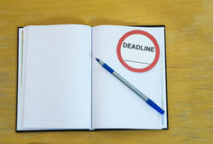 Agenda deadline Royalty Free Stock Photo
