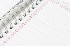 Agenda del calendario Imagen de archivo