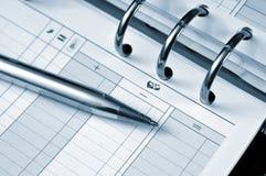 Agenda en pen Stock Afbeeldingen