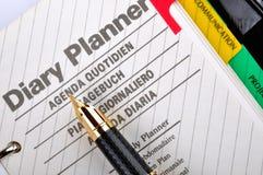 Agenda en plan royalty-vrije stock afbeelding
