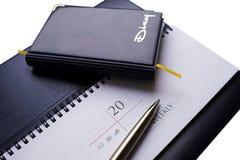 Agenda en weekblad-01 Stock Afbeeldingen