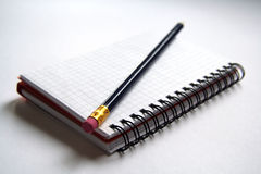 Agenda et crayon Photo stock