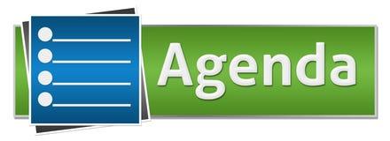 Agenda Green Blue Button Style Stock Photos