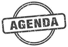 Agenda stamp. Agenda grunge vintage stamp isolated on white background. agenda. sign stock illustration