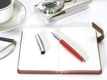 Agenda i tabletop dla biurowego pojęcia Obrazy Royalty Free