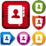 Agenda icon. Vector agenda icon on different buttons stock illustration