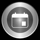 Agenda icon on a circle isolated on a black background Stock Photo