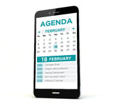 Agenda isolated phone Royalty Free Stock Photography