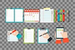 Agenda list concept vector illustration. Royalty Free Stock Photo