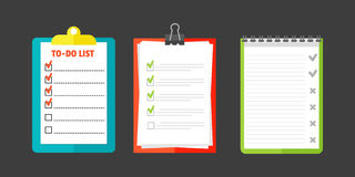 Agenda list concept vector illustration. Royalty Free Stock Image