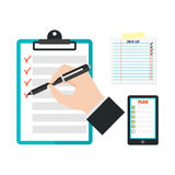 Agenda list concept vector illustration. Royalty Free Stock Images