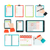 Agenda list concept vector illustration. Stock Photography