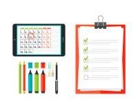 Agenda list concept vector illustration. Royalty Free Stock Photos
