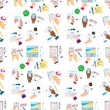 Agenda list concept vector illustration seamless pattern background business note ofiice calendar wishlist checklist royalty free stock images