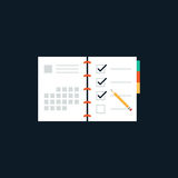 Agenda list flat design icon concept Royalty Free Stock Photography